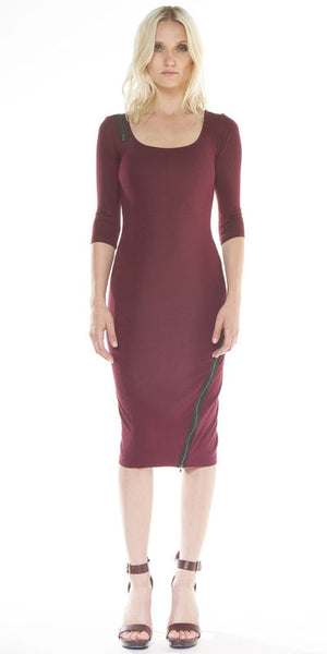 Designer Wrap Zipper Cocktail Dress