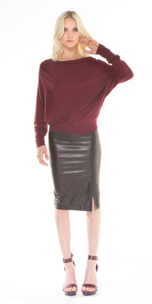 Vegan Leather Erin Skirt
