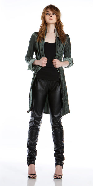 Designer Trench Coat- Italian Metallic