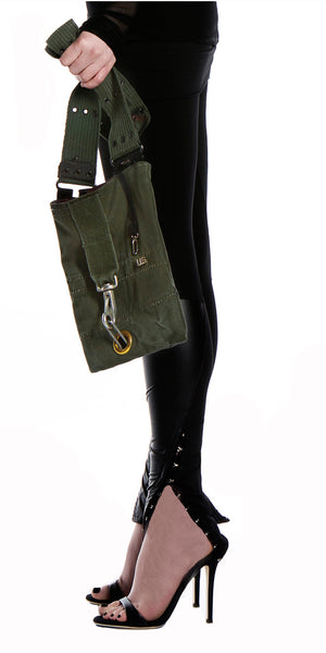 Jett Hook & Eye Fashion Legging w/Vegan Leather
