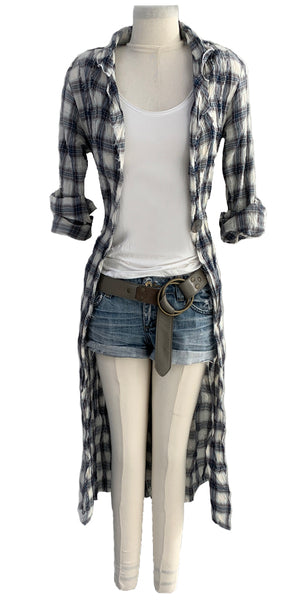 Long Shacket in Plaid