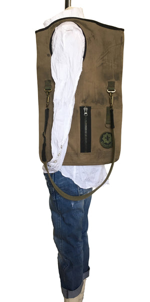 Peaceful Warrior Cross Body Shoulder Bag