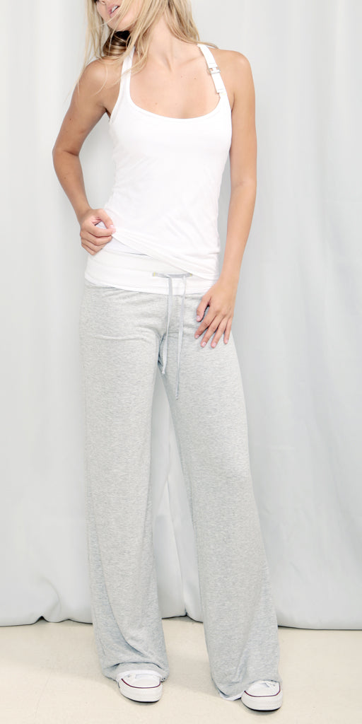 Double layer knit pant