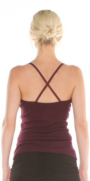 Cross Back Cami w/built in bra