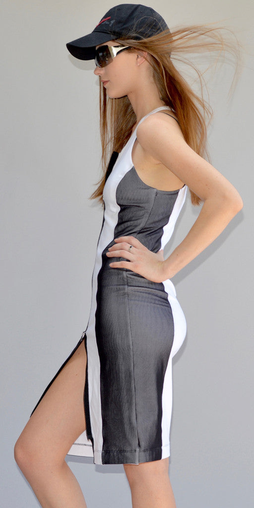 Bond Girl Zipper Dress