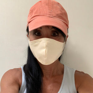 Reusable Face Mask- multi layer cotton w/HEPA filter