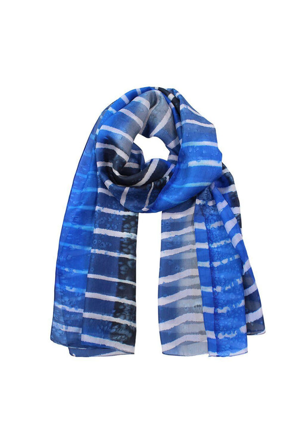 DLUX | Trieste Silk Stripe Boarder | Blue