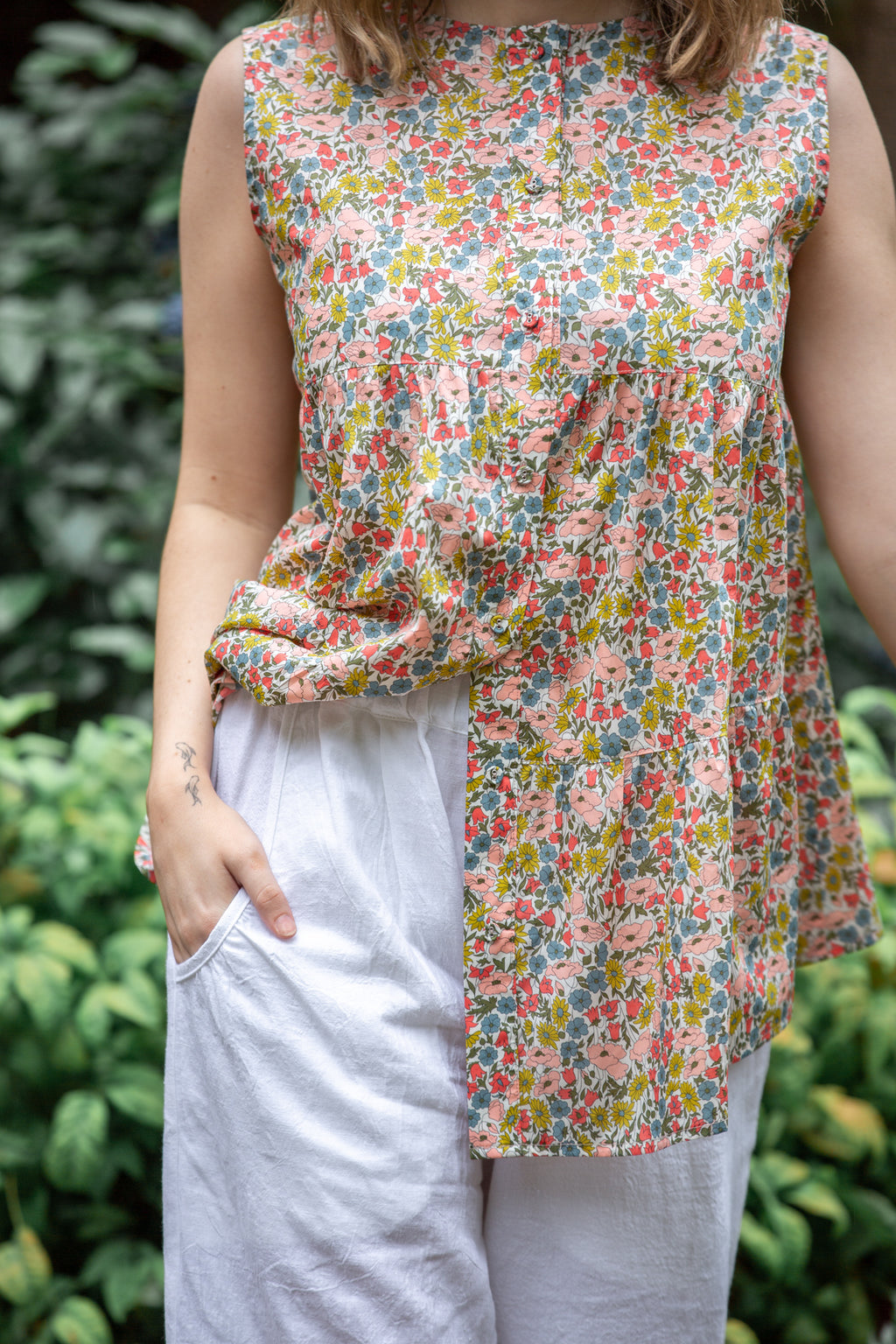 Mao Trapeze Top | Liberty Poppy & Daisy