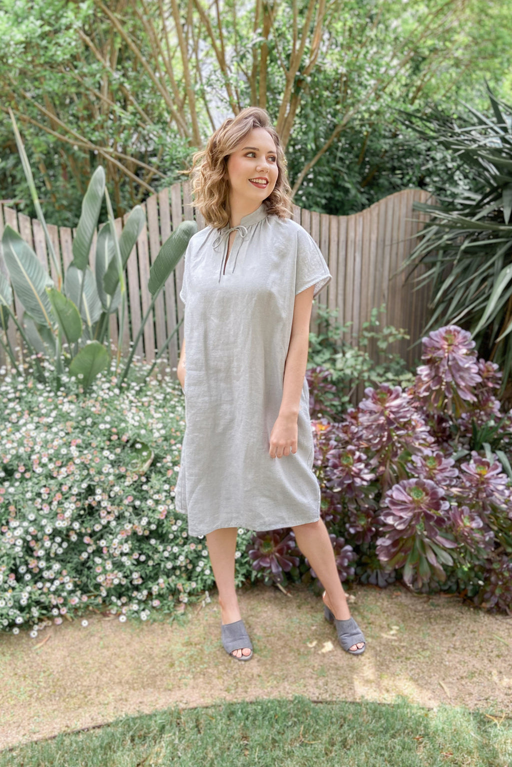 Ella Shift Dress | Mottled Ash