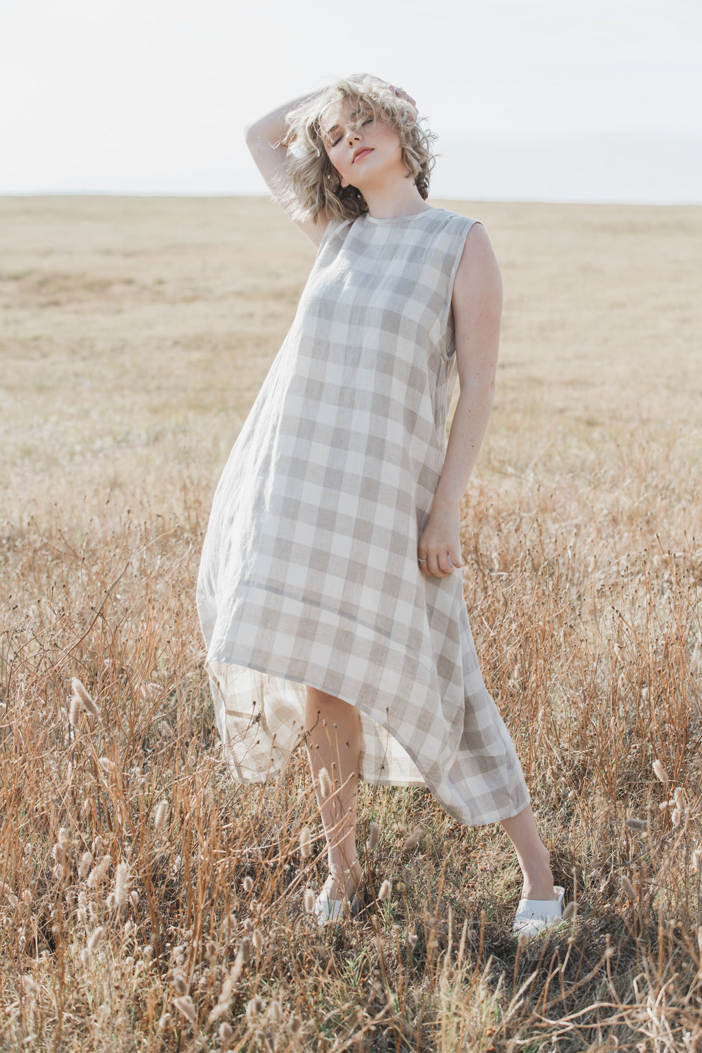 Mia Dress | Parchment Plaid - Evas Sunday