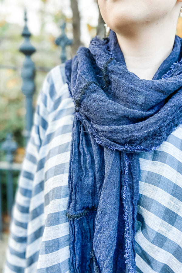 Raw Edged Scarf | Eclipse Gauze