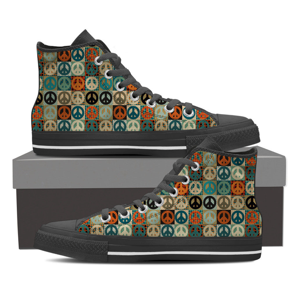Peace Men's High Top Shoes
