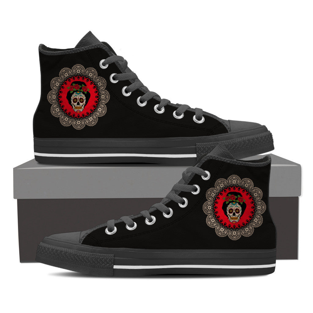 Skull Queen Women's High Top Shoe