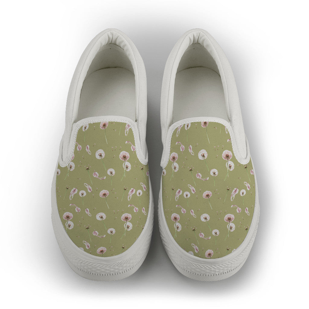 Dandelion Women's Slip Ons - White Sole