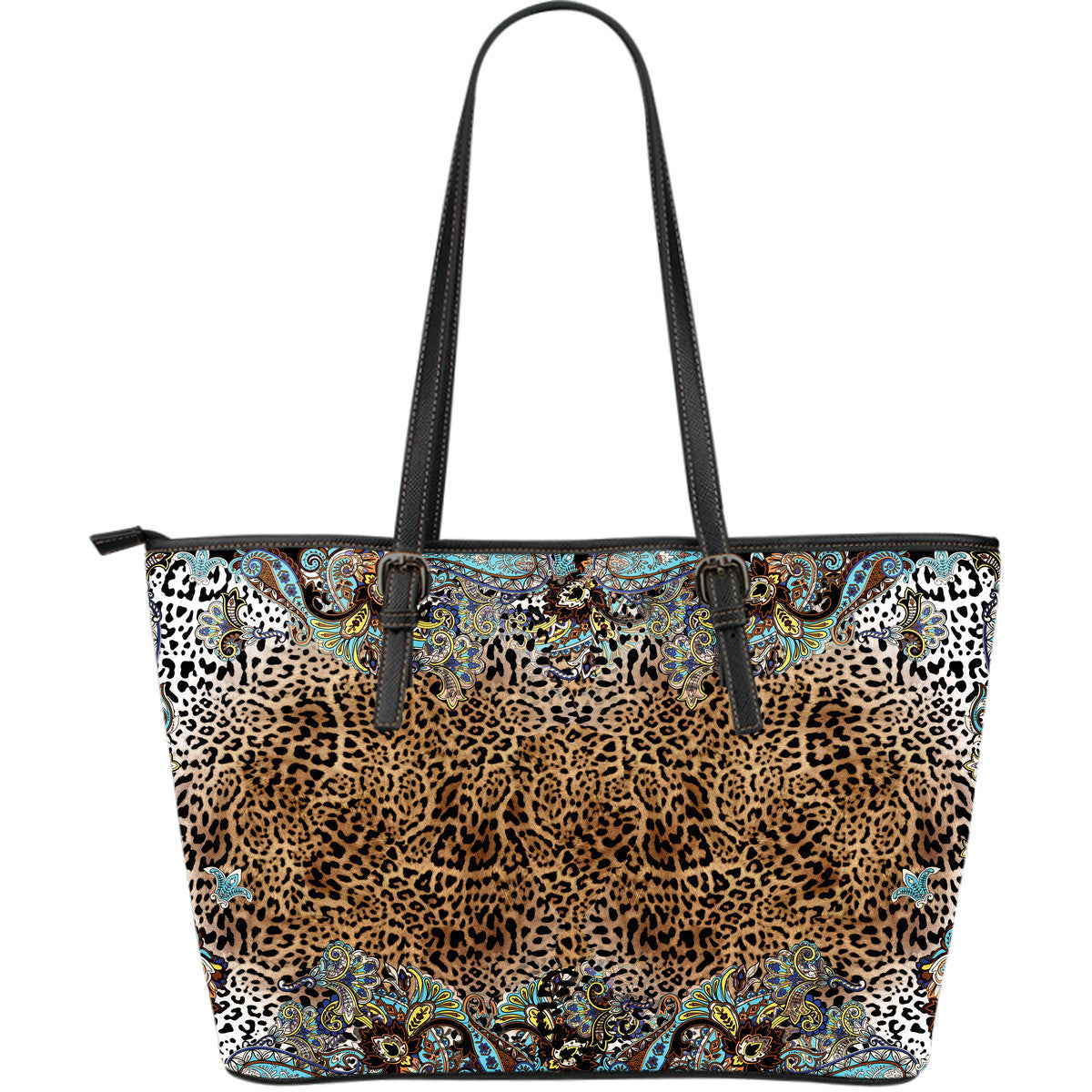 Tiger Lily Large Leather Tote Bag