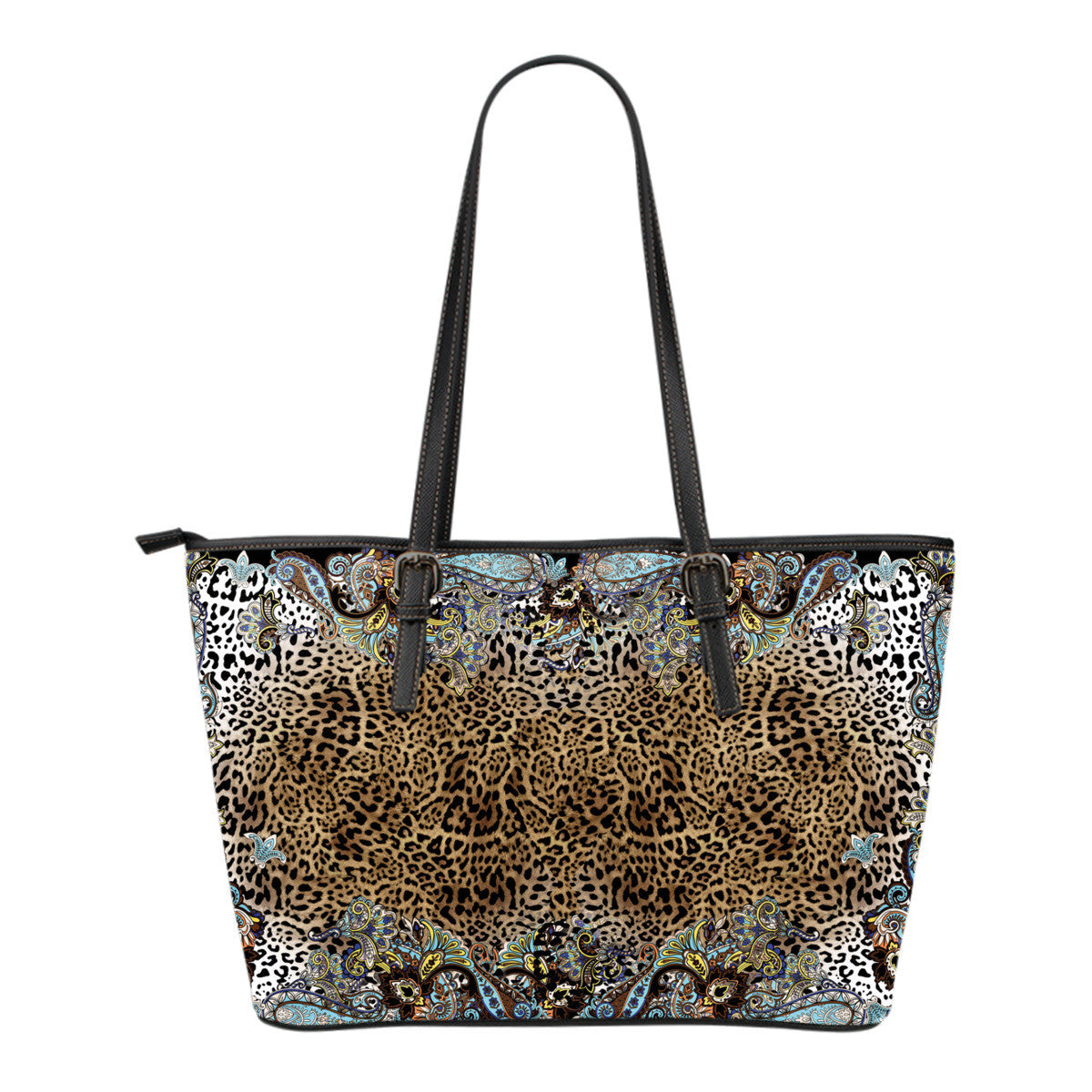 Tiger Lily Small Leather Tote Bag