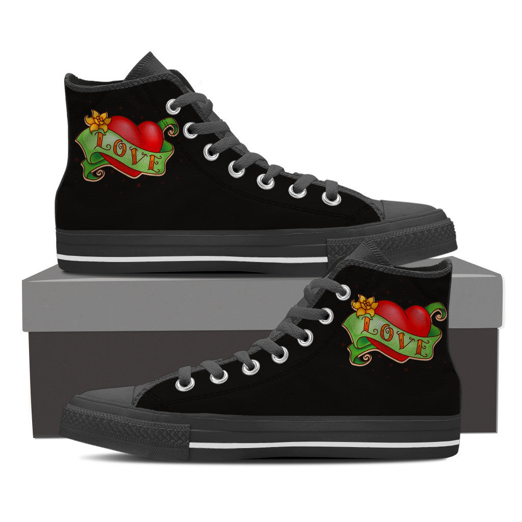 Step in Love Women's High Top Shoes