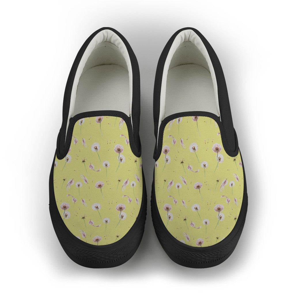 Dandelion Women's Slip Ons - Black Sole