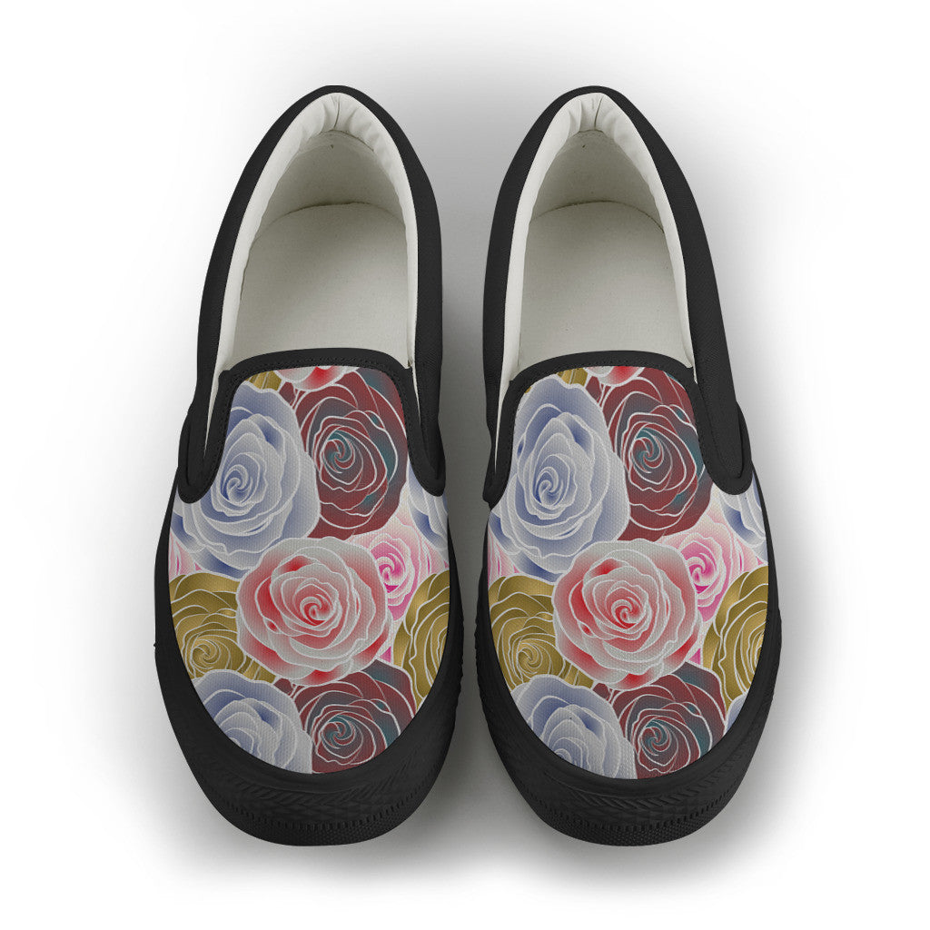 Pink Rosey Women's Slip On Shoes