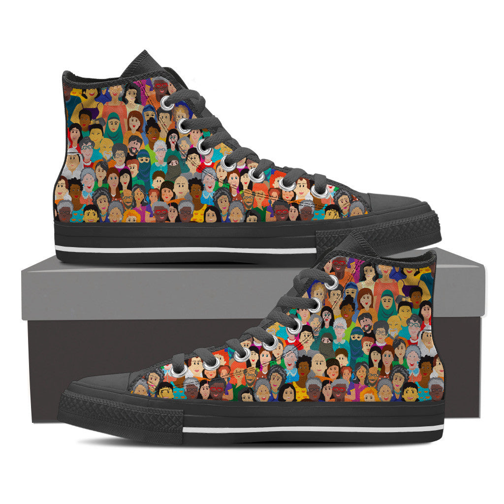 Diversity Rocks Men's High Top Shoes