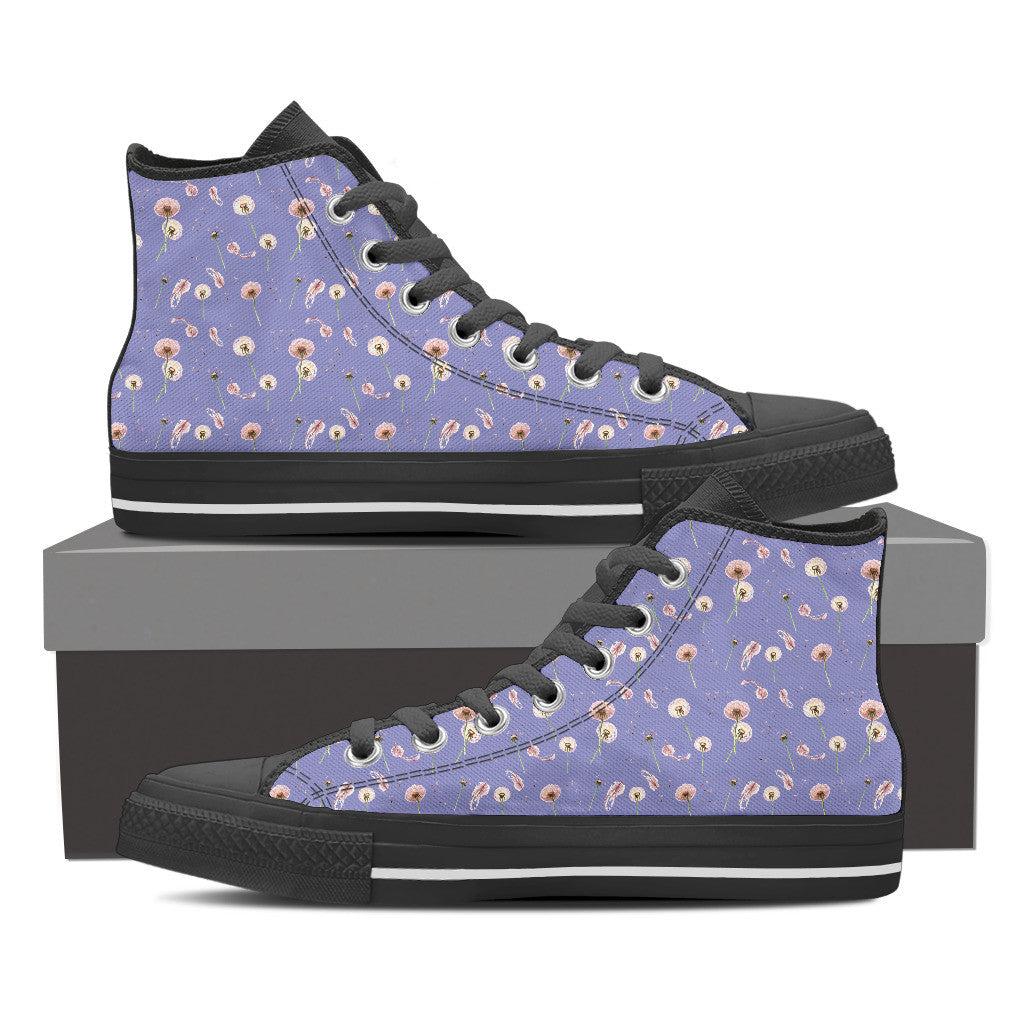 Dandelion Women's High Tops  - Black Sole