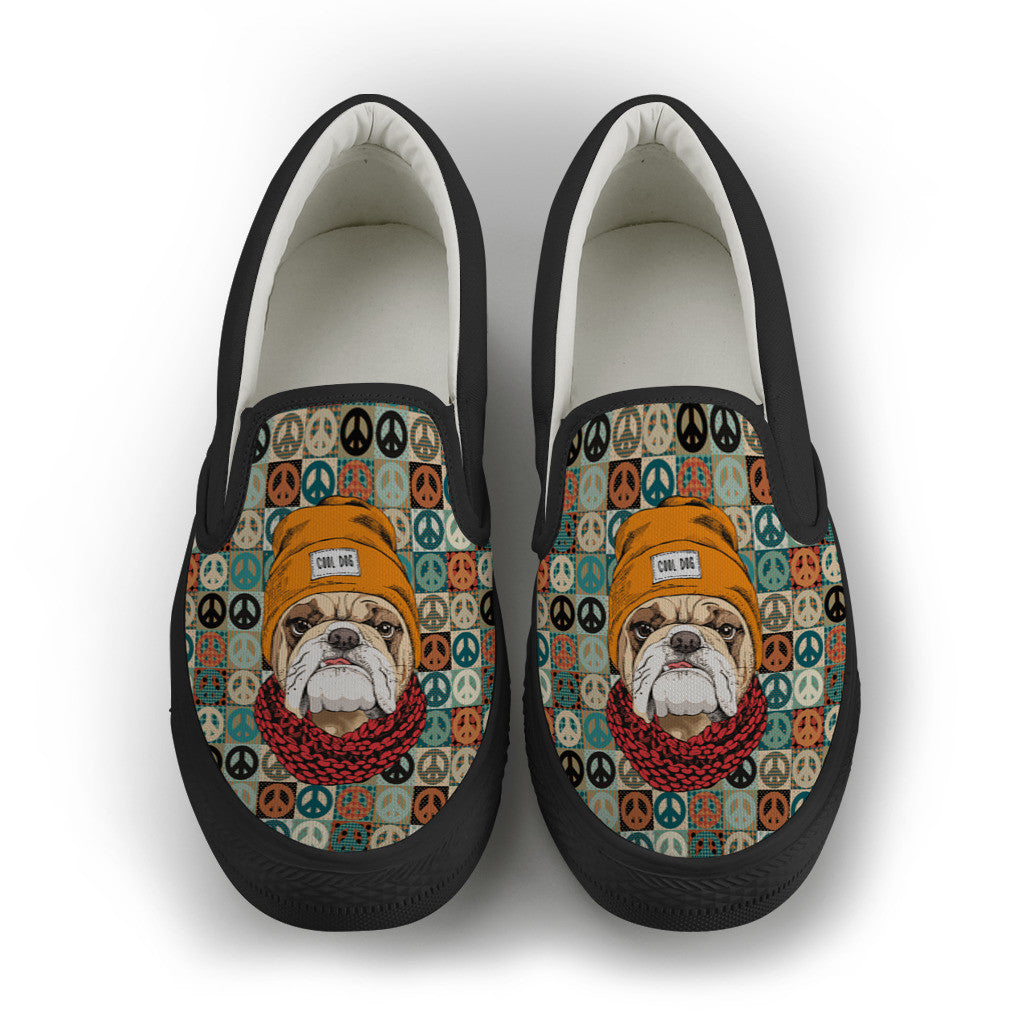 Peace Maker BullDog Women's Slip On Shoes