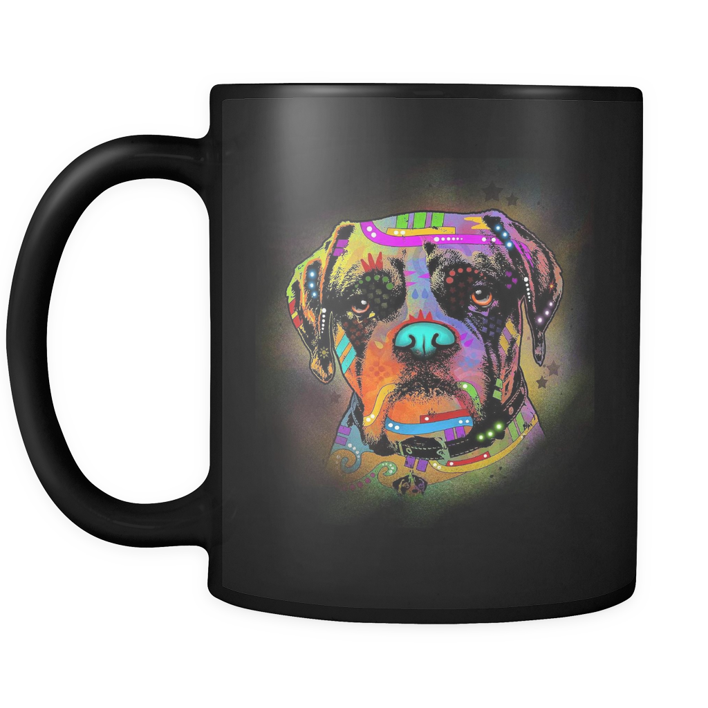 BOXER 11 oz Black Mug