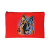 GERMAN SHEPHERD Red Accessory Pouch