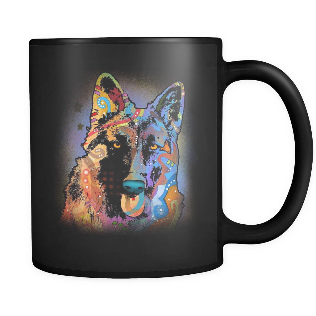 GERMAN SHEPHERD 11oz Black  Mug
