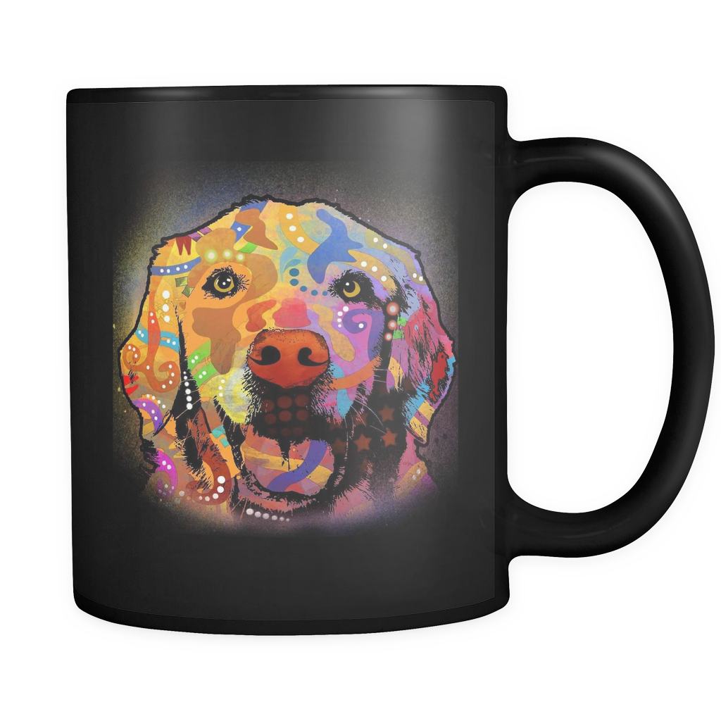 GOLDEN RETRIEVER 11oz Black Mug