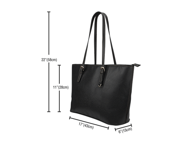 Diversity Rocks Large Leather tote Bag