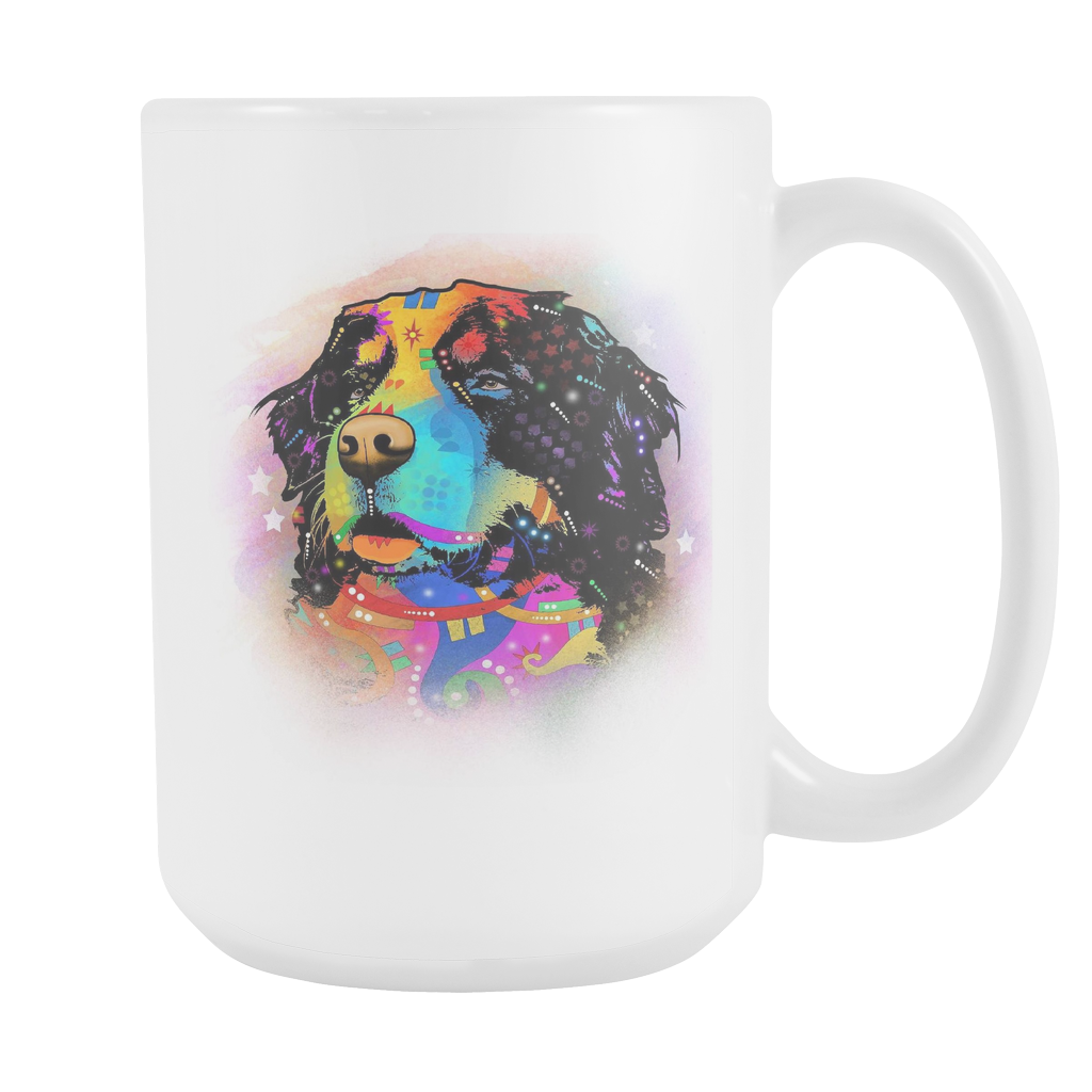 BERNESE MOUNTAIN DOG 15oz White Mug