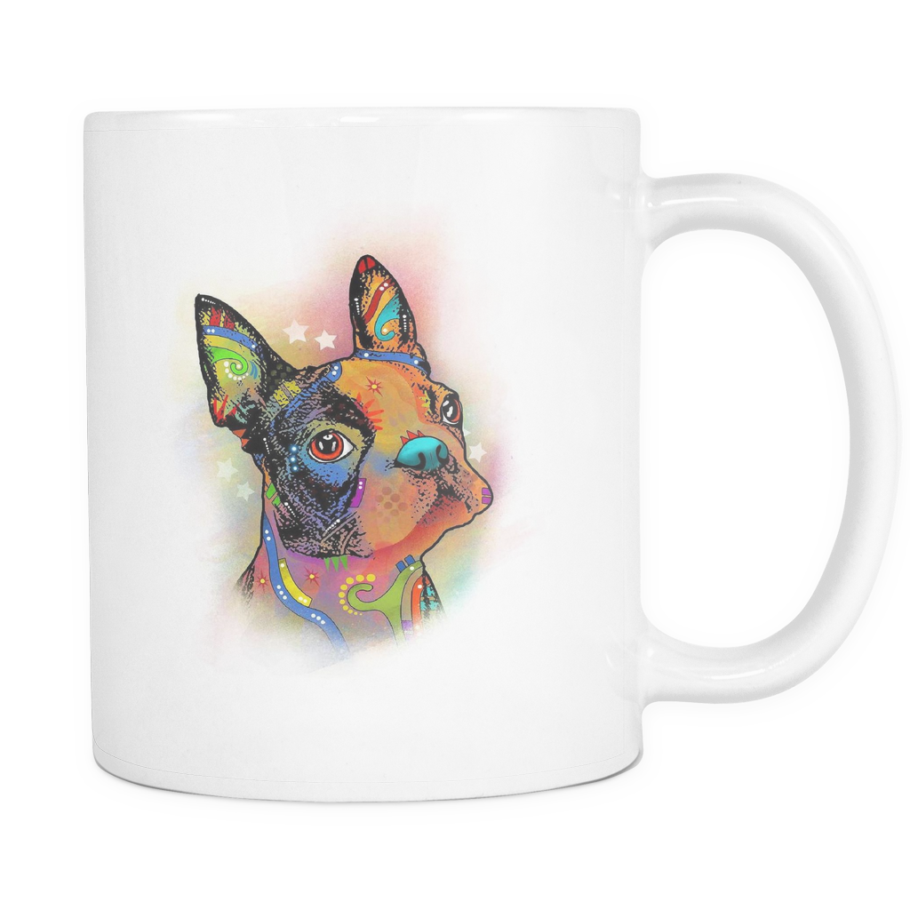 BOSTON TERRIER 11oz White Mug