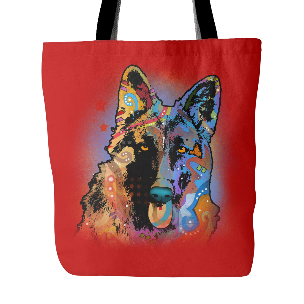 GERMAN SHEPHERD Tote Bag, Multi-Colors