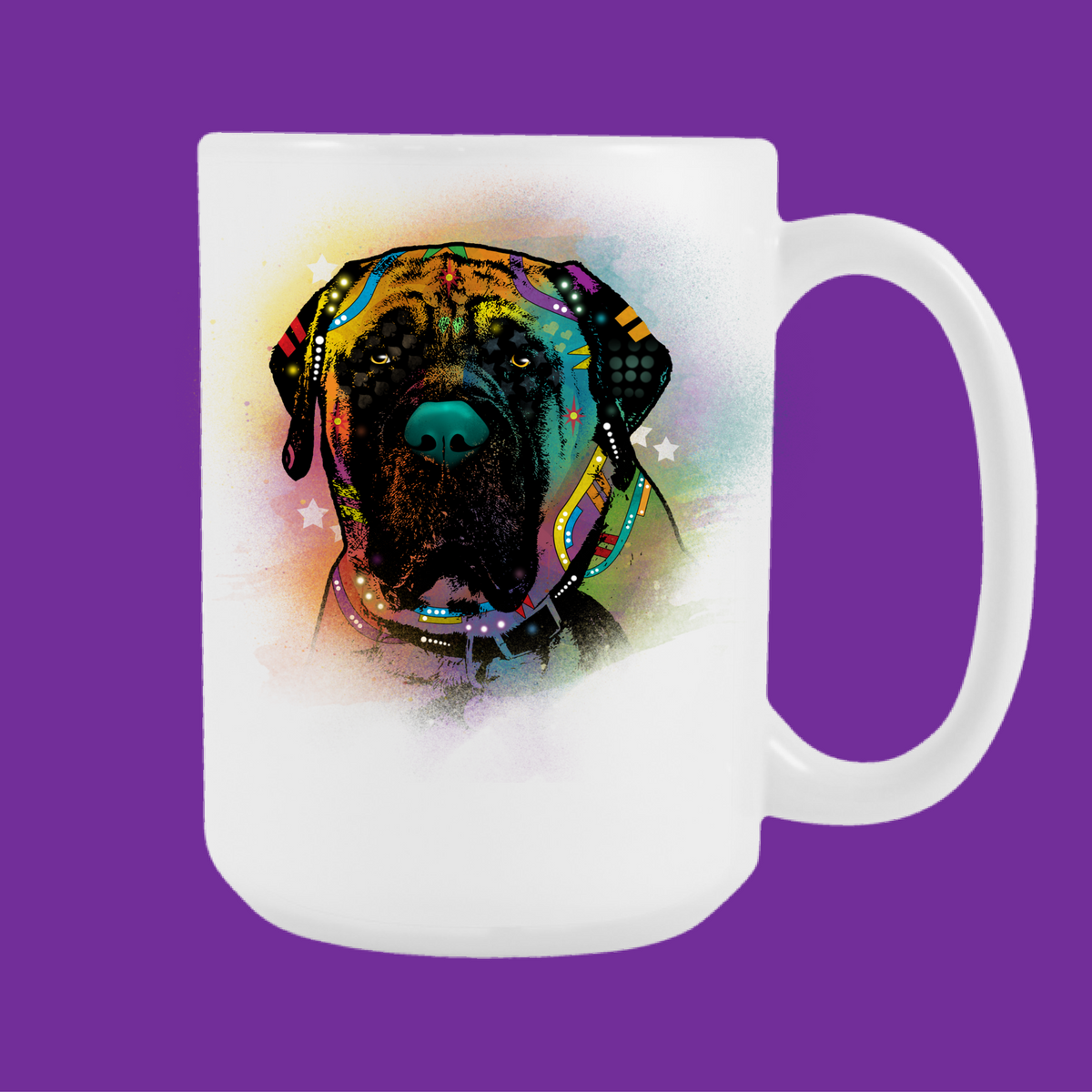 ENGLISH MASTIFF 15 oz White Mug