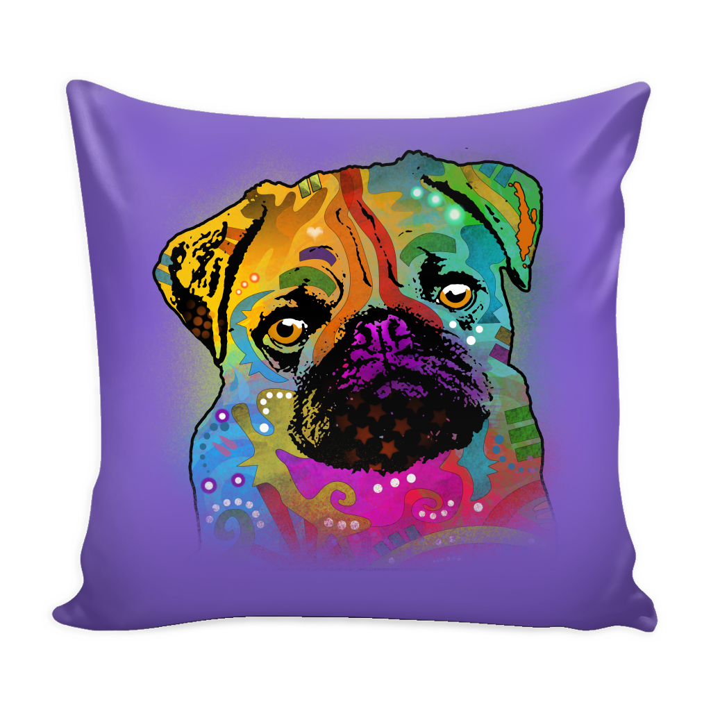 PUG Pillow Cover, Multi-Colors