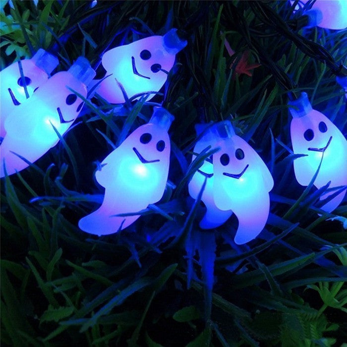 Ghost Solar Outdoor String Lights 30 Waterproof LED