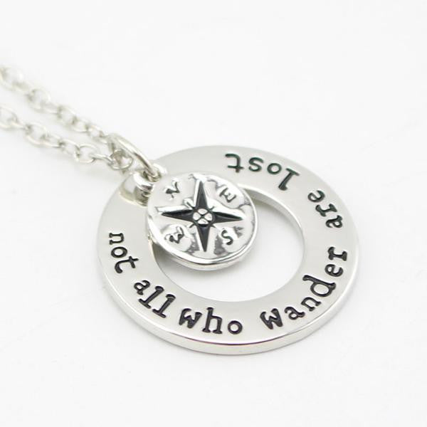 """Not All Who Wander Are Lost"" Inspirational Jewelry"