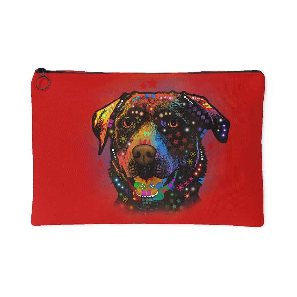 CHOCOLATE LABRADOR Accessory Pouch, Red Dark