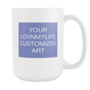 CUSTOM ART 15 oz White Mug