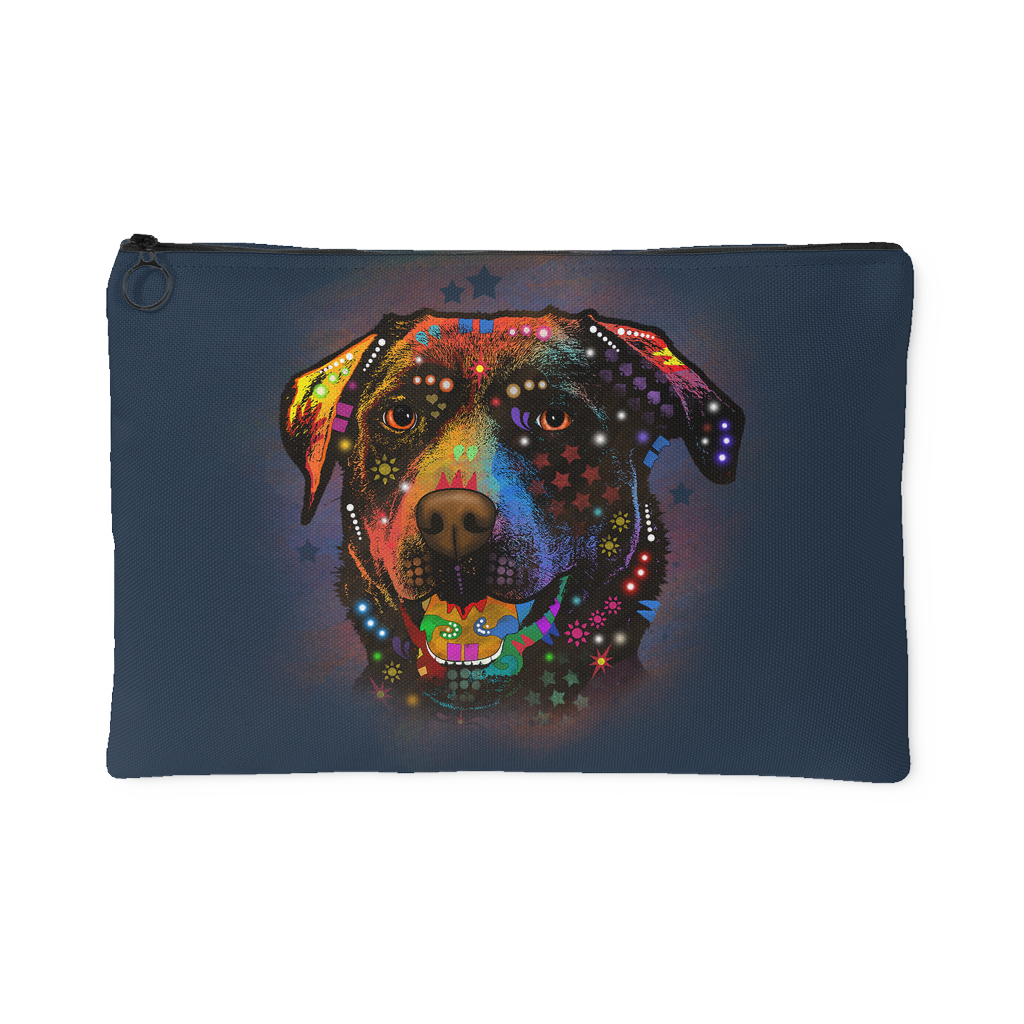 CHOCOLATE LABRADOR Accessory Pouch, Navy