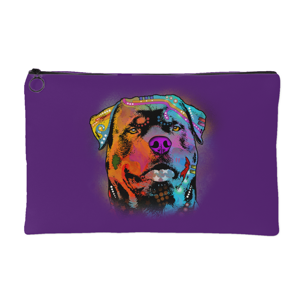 ROTTWEILER ACCESSORY POUCH, PURPLE