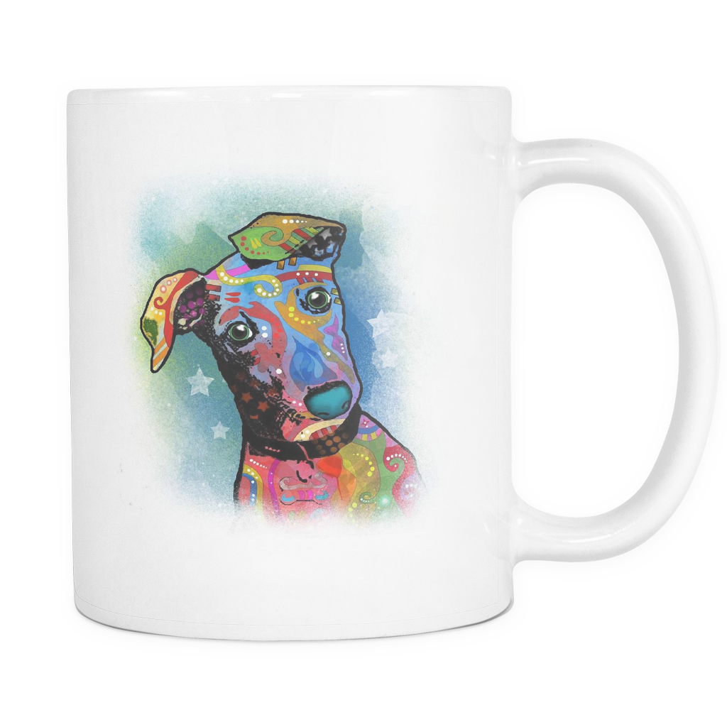 GREYHOUND 11 oz White Mug