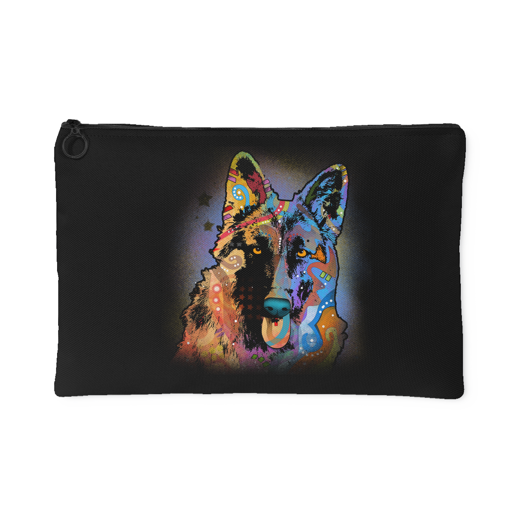 GERMAN SHEPHERD Black Accessory Pouch