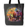 GOLDEN RETRIEVER TOTE BAG, MULTI-COLORS