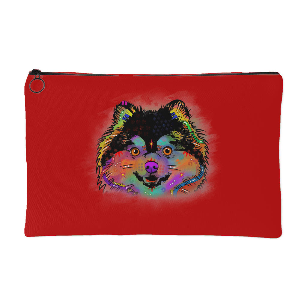 POMERANIAN Accessory Pouch, Royal Red