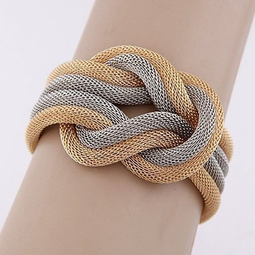 Bracelet - Bowknot Multilayer Metal Braid Twist Bracelet