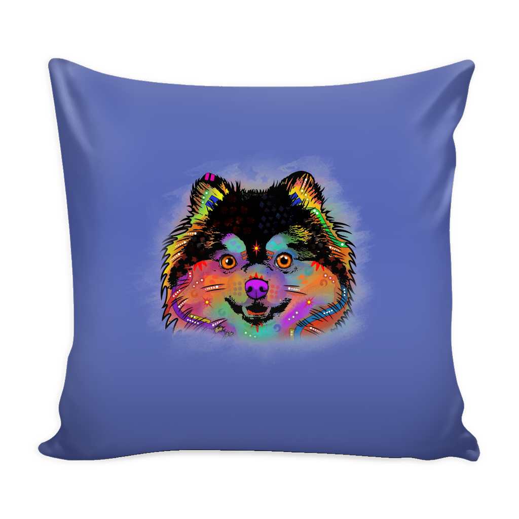 POMERANIAN Pillow Cover, Multi-Colors