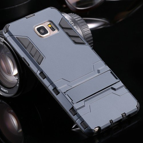Cellphone Case - 2 In 1 Cool Hard Back Cover Case  For Galaxy Note 5 With Flexible Stand
