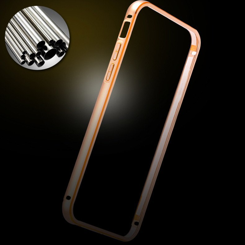 Cellphone Case - Aluminum Metal And Leather Back Case For IPhone 6/Plus